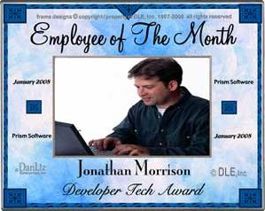 personalized awards recognition frames employee of the month