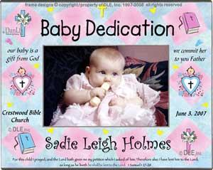 Personalized religious celebrations frames baby dedication frame baby dedication frame dle negle Choice Image